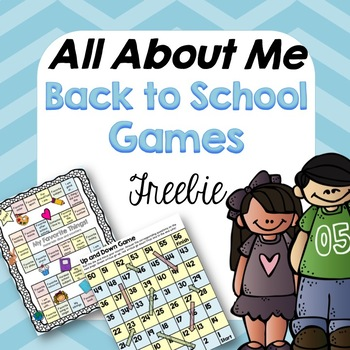 All About Me-Back to School Games