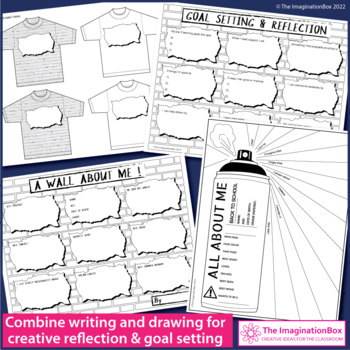 All About Me Graffiti Wall Name Activity