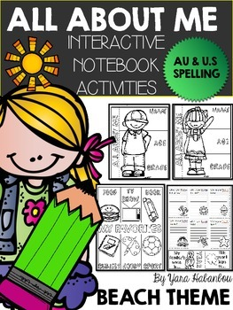 All About Me Back to School Interactive Notebook Activity