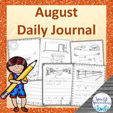 All About Me, Back to School Journal Writing for Special E