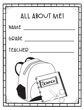 All About Me! Back to School Packet