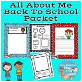 All About Me Back to School Packet