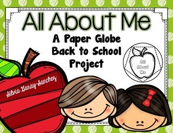 All About Me Back to School Paper Globe (Dodecahedron)