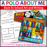 All About Me Back to School | Polo Shirt Art & Writing Activity