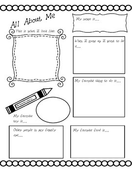 All About Me Back to School Printables