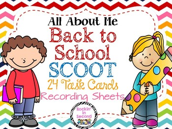 All About Me Back to School SCOOT