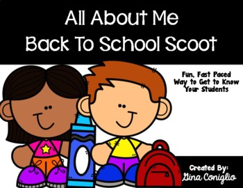 All About Me: Back to School Scoot