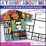 All About Me Back to School T Shirt Art & Writing Activity
