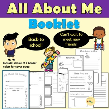 All About Me/Back to School - Worksheets, ice breaker cards and activities