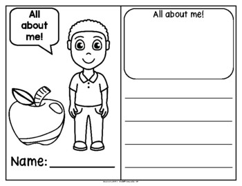All About Me! Back-to-School Writing Activity (English)