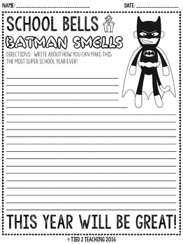 All About Me Back to School Writing Printables