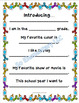All About Me Back to School Writing and Drawing Activity