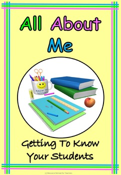 All About Me Back to School or End of Year Fun, Printable