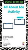 All About Me - Back to school: Digital Activity