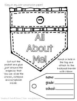 All About Me {Backpack Craft}