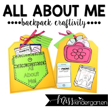 All About Me By Miss Kindergarten Love Tpt