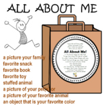 All About Me Bag Activity