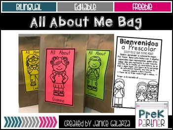 All About Me Bag {{Bilingual & Editable}}