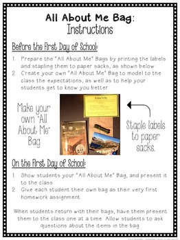 All About Me Bag Freebie