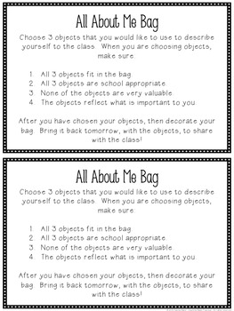 picture regarding All About Me Bag Printable called All Pertaining to Me Bag Freebie