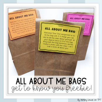 All About Me Bag Labels