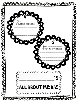 All About Me Bag Project