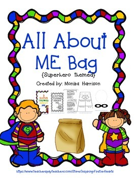 All About Me Bag Superhero themed