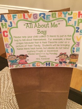 All About Me Bag Tag