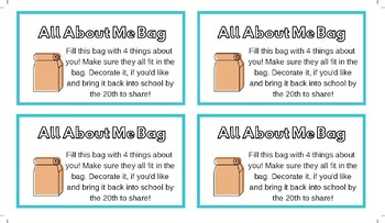 All About Me Bag Tags