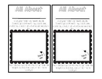 All About Me Bags - A Getting to Know You Inference Activity