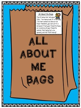 All About Me Bags - Back to School - Get to know you activity