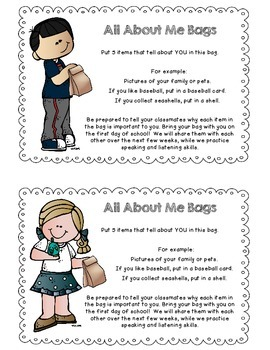 photo regarding All About Me Bag Printable referred to as All More than Me Baggage FREEBIE