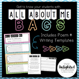 All About Me Bags {Poem & Writing Display} Back-to-School Activity