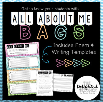 All About Me Bags {Poem & Writing Display} Back-to-School