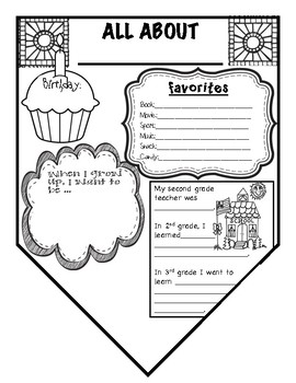 All About Me Banner {Back to School, First Day of School}