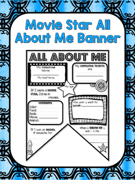 All About Me Banner: Movie Star Edition