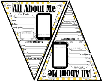 All About Me Banner (Polka-Dot Theme) First Day of School {Get to Know You}