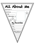 All About Me Banner Printable (Without Hole Punch)