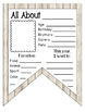 All About Me Banner with Background Options