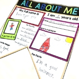 All About Me Banners: A Back to School Bulletin Board Display
