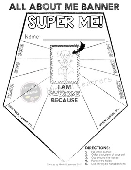 All About Me Banners- Superhero Theme