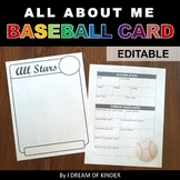 All About Me Baseball Card
