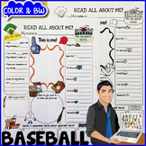 Baseball All About Me Poster