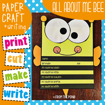 All About Me Bee {Craft Writing Activity}
