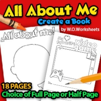 All About Me - Beginning of Year - Back to School
