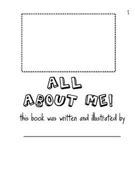 All About Me Beginning of the School Year Booklet