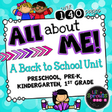 All About Me Unit for Back to School (PreK/Kindergarten/First/Preschool/Pre-K)
