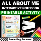 Back to School All About Me Interactive Notebook Craftivity