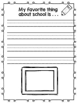 """""""All About Me"""" Journal - Back to School"""