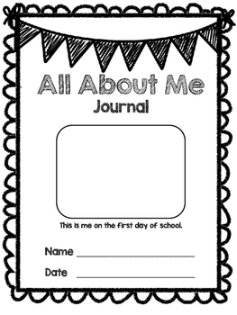 """All About Me"" Journal - Back to School"